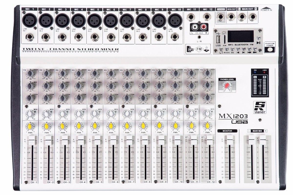 Mesa De Som Staner Mx1203 USB